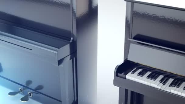 a sajtolás gombokkal zongorák sor