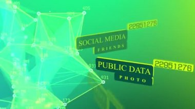 International social media network concept.
