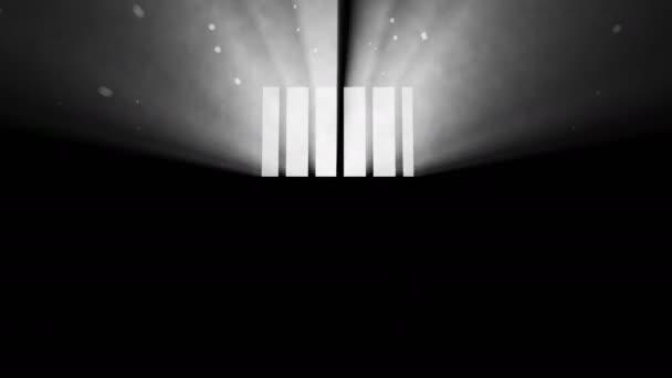 Světlo procházející skrz zamřížované okno