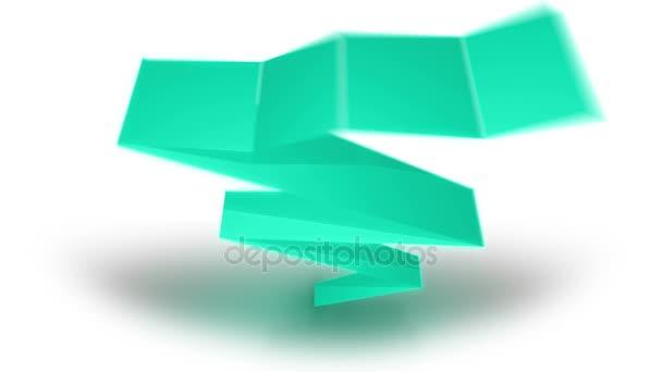 Animazione di colore insieme dei nastri di carta