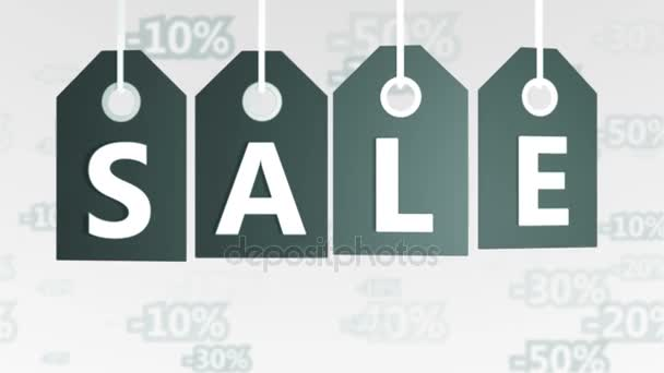 Závěsné cenovky s prodejem