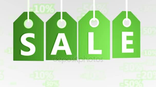 Zöld függő eladási Címkék