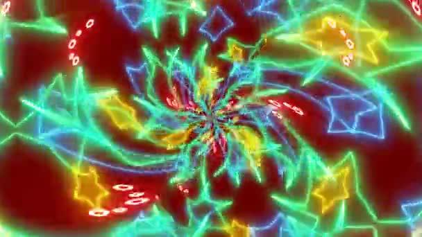 abstrakte Animation der Farbkaleidoskop-Textur