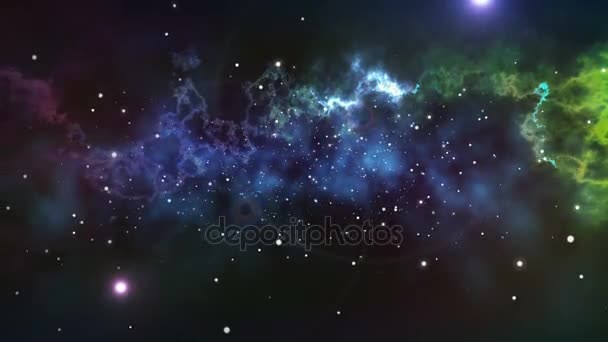 Infinite space with stars