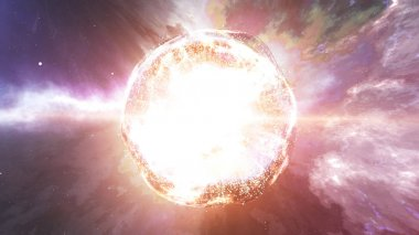 Abstract planet explosion