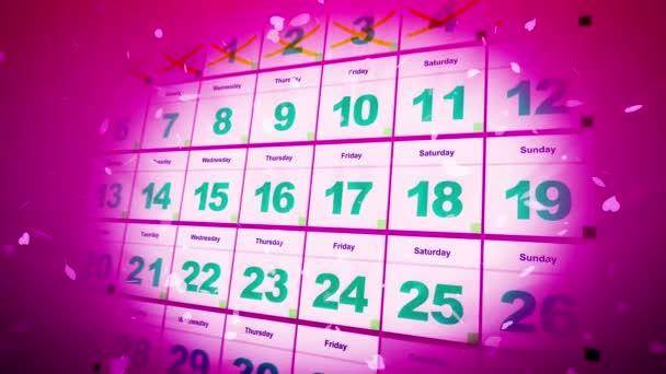Calendar with Saint Valentine day — Stock Video © klss777 #165407030