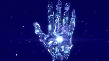 shining brainy robot hand
