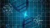 DNA Diagram on Blue Network