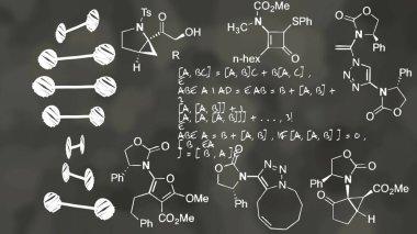 Physics Theory Formula Chalkboard