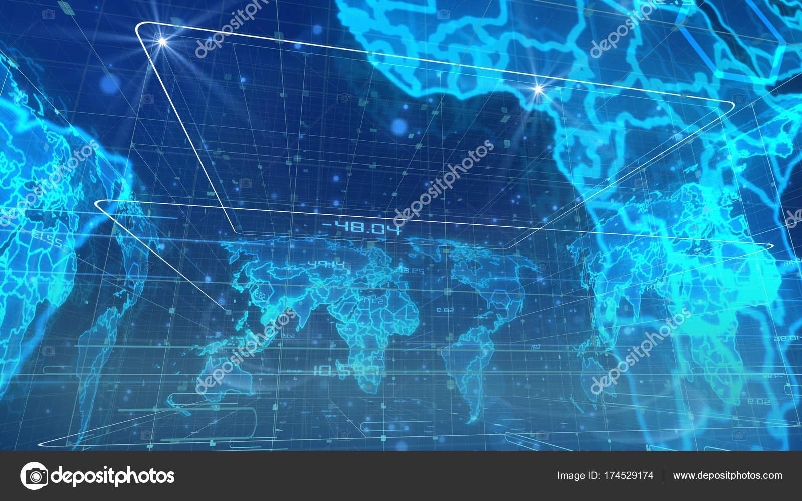 Spherical World Map.Spherical Digital Broadcasting World Map Stock Photo C Klss777