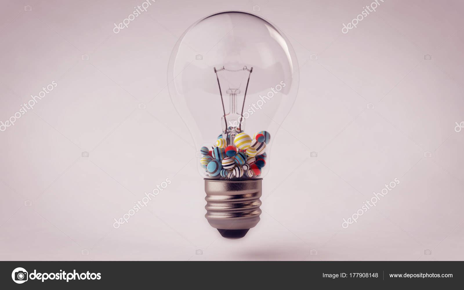Glas-Glühbirne mit Kugeln drin — Stockfoto © klss777 #177908148