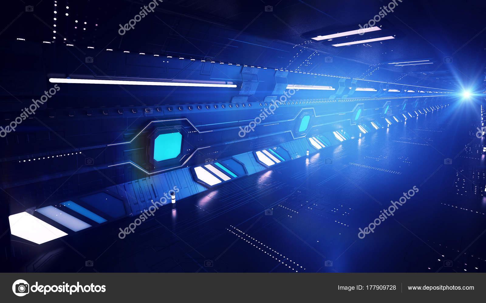 極超音速の暗い地下鉄トンネル —...