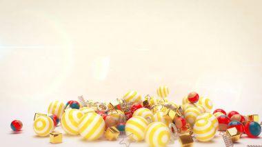 Rolling Celebratory Multicolored Balls