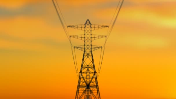 Approaching Electricity Towers at Sunset