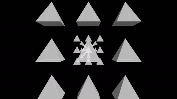 Tunnel Motion Effects with White Pyramids