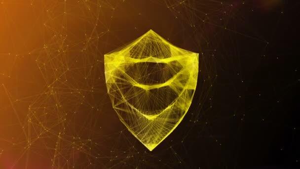 Zlatý štít Symbol v whirlpool kyberprostoru
