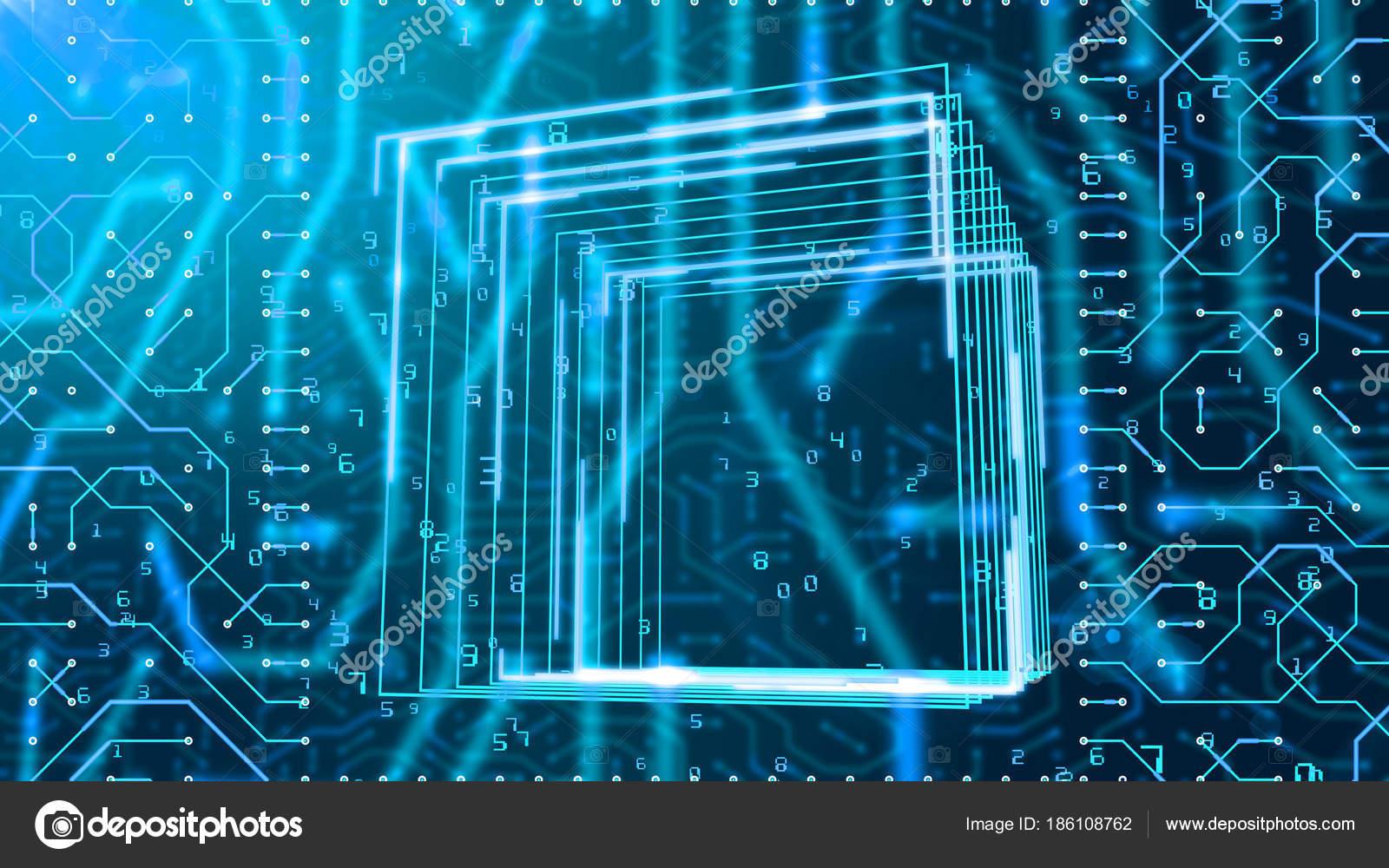 Trailblazing Illustration Circuit Board Looking Portal Askew