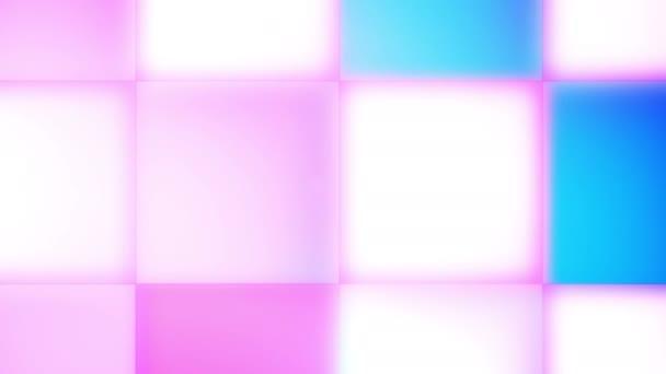 glitzernde rosa, weiße, blaue LED-Lampen