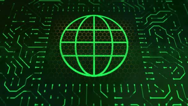 Geldbörse-Zeichen-Platine und Green Globe