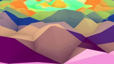Lowpoly Background with Convex Surface
