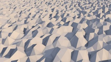 Lowpoly Backdrop with Grey and White Pyramids