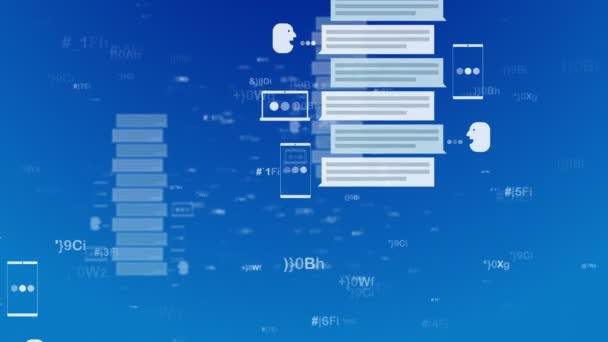 Abstraktní zprávy v rezervovat piloty formuláře. Moderní 3d vykreslování komunikačního systému v podobě knihy piloty, skladování před profil obrázek nějakého muže. S každou vteřinou jsou stále více a více souborů. Loopable