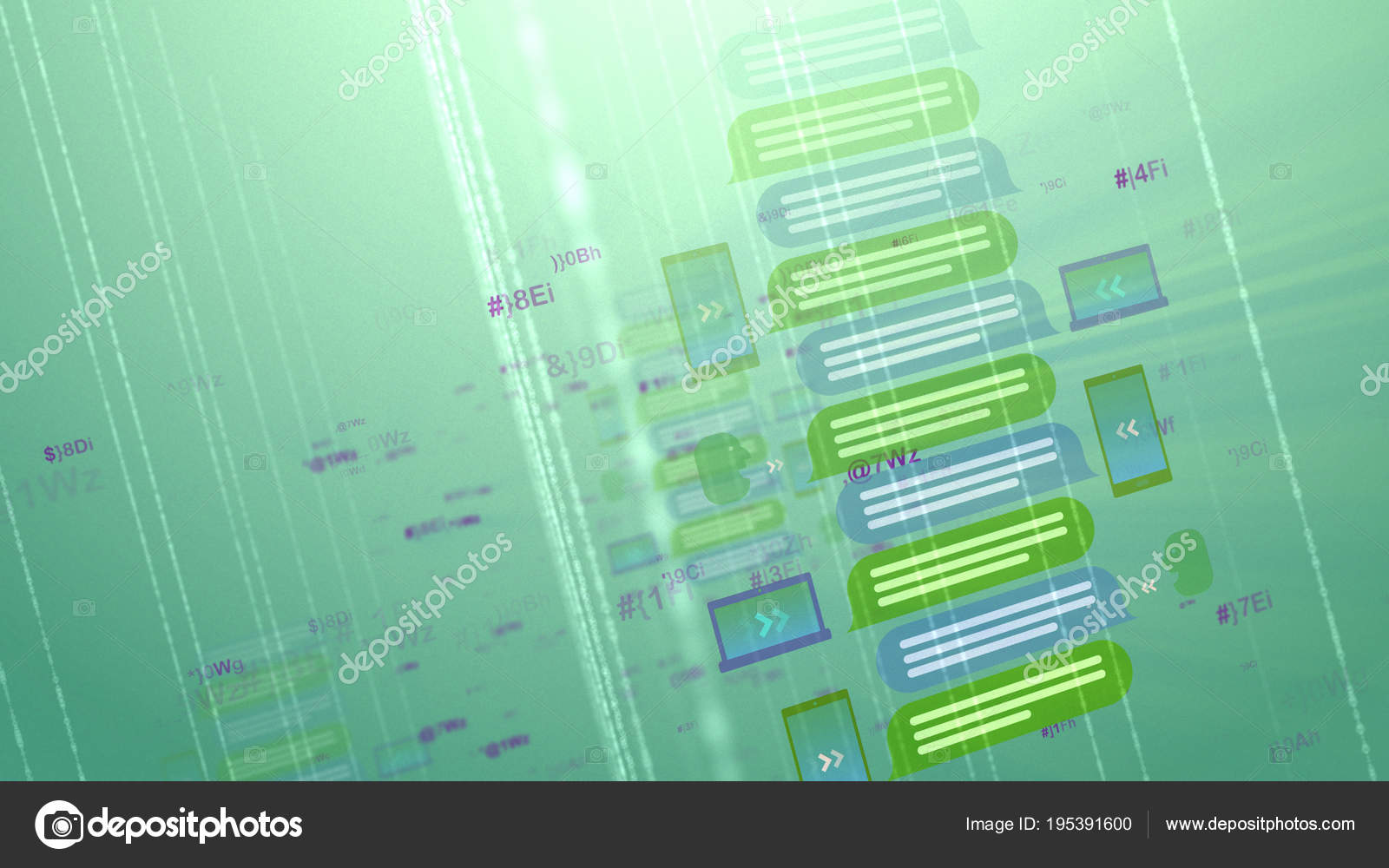Cyberspace Map With Symbols And Lines Stock Photo Klss777 195391600
