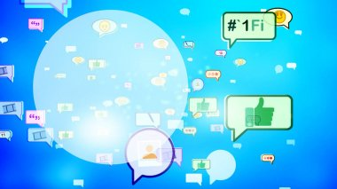 Cheery Social Bubbles Surging on Screen