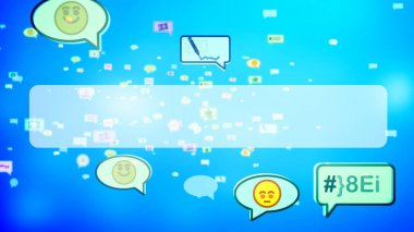 Cheery Childish Social Bubbles on Screen