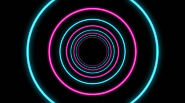 Abstract Tunnel with Blue and Pink Colors