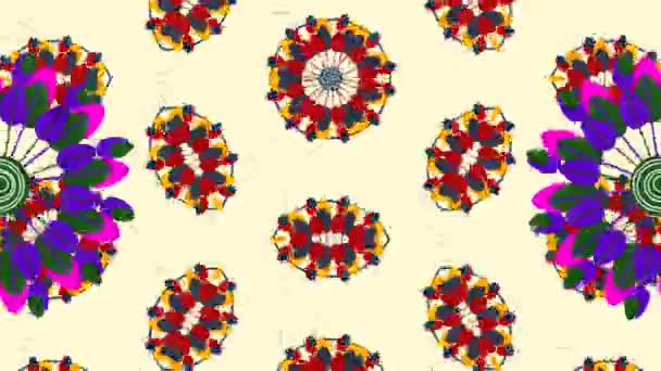 Kaleidoscope flower mandala animation
