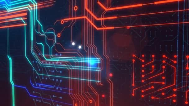 Zpracování futuristického serveru obvodové desky.