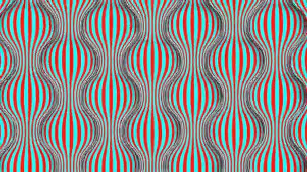 Populární umění 3D vykreslování rotujících kulovitých a vlnitých struktur z červených a bílých čar. Vytvářejí veselé a kaleidoskopické pohyby.