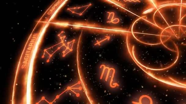 Goldene Tierkreiszeichen am Himmel