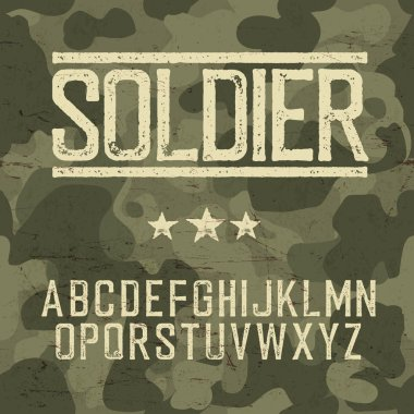 soldier font template