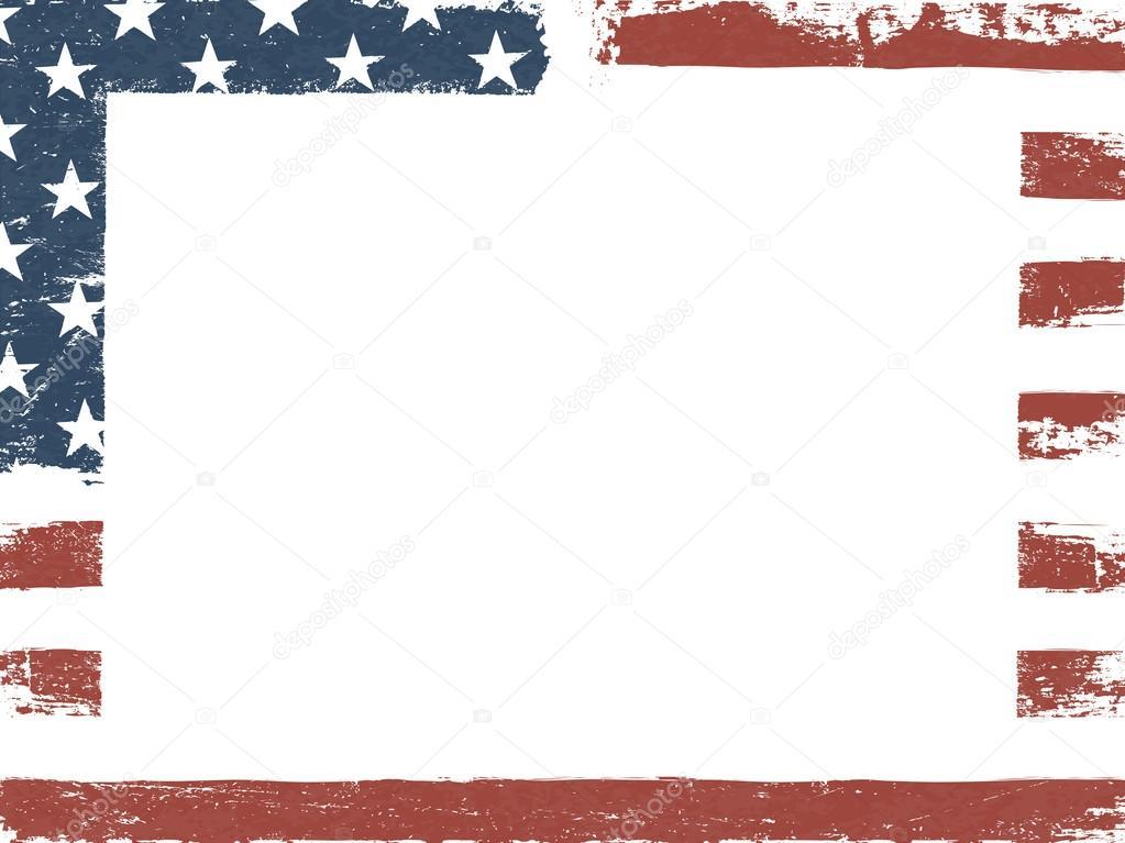 american flag frame — Stock Vector © pashabo #127256466