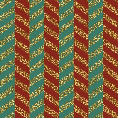 seamless pattern of Christmas ribbons