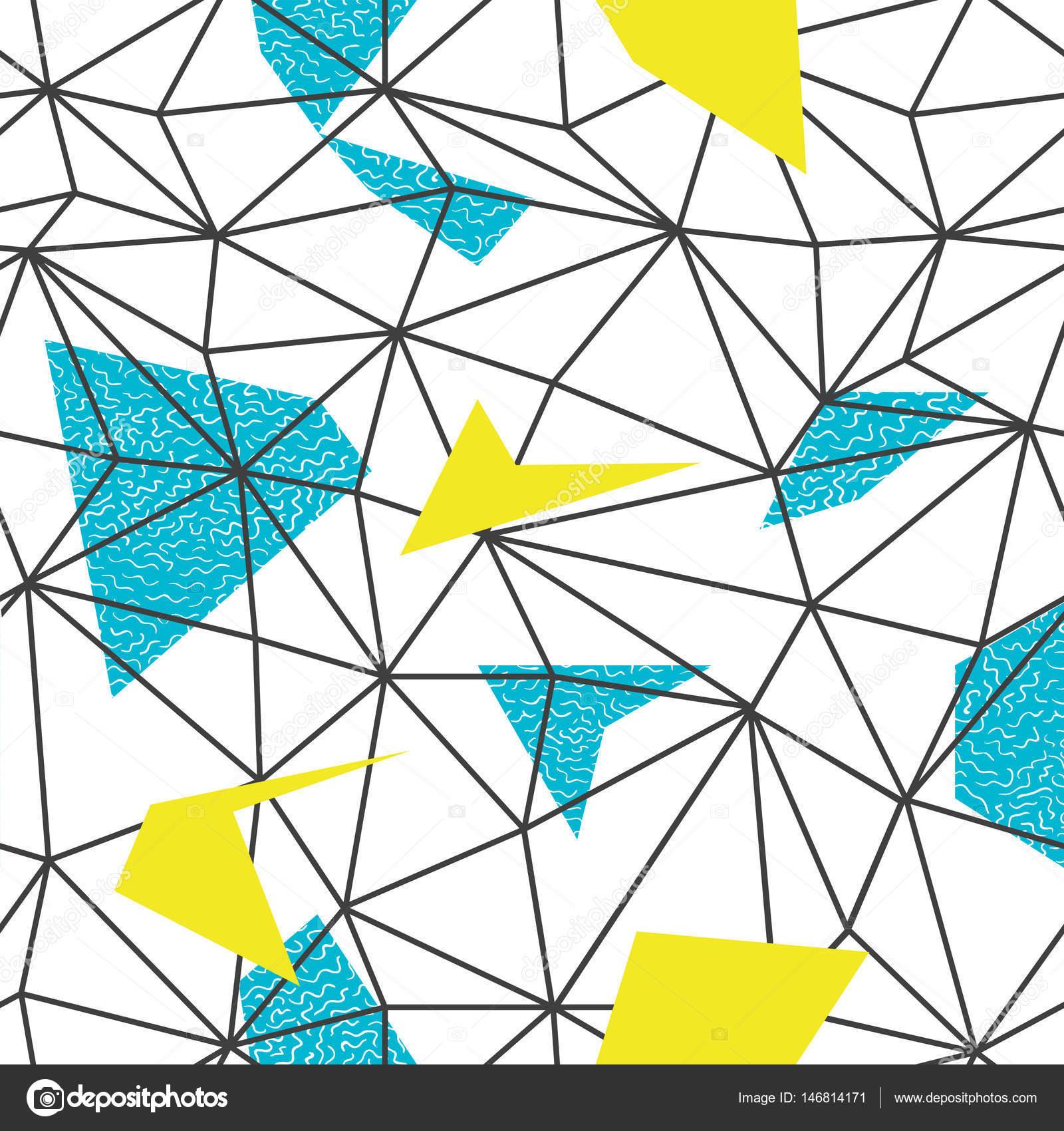 Patrón de marco de alambre de triángulos — Vector de stock © pashabo ...