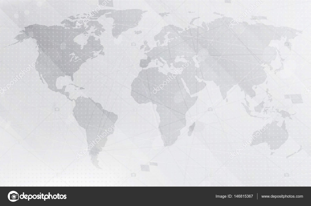 Light grey world map stock vector pashabo 146815367 abstract light grey world map digital global technology concept vector illustration vector by pashabo gumiabroncs Images