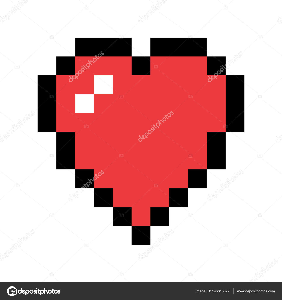 Pixel Art rote Herzen — Stockvektor © pashabo #146815627