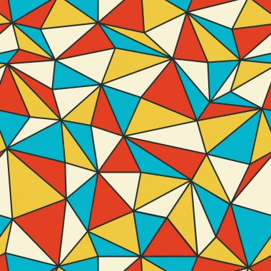 Geometric pattern in retro style