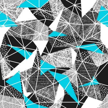 pattern with blue triangles