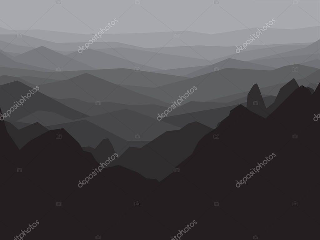 Mountain Monochrome Landscape