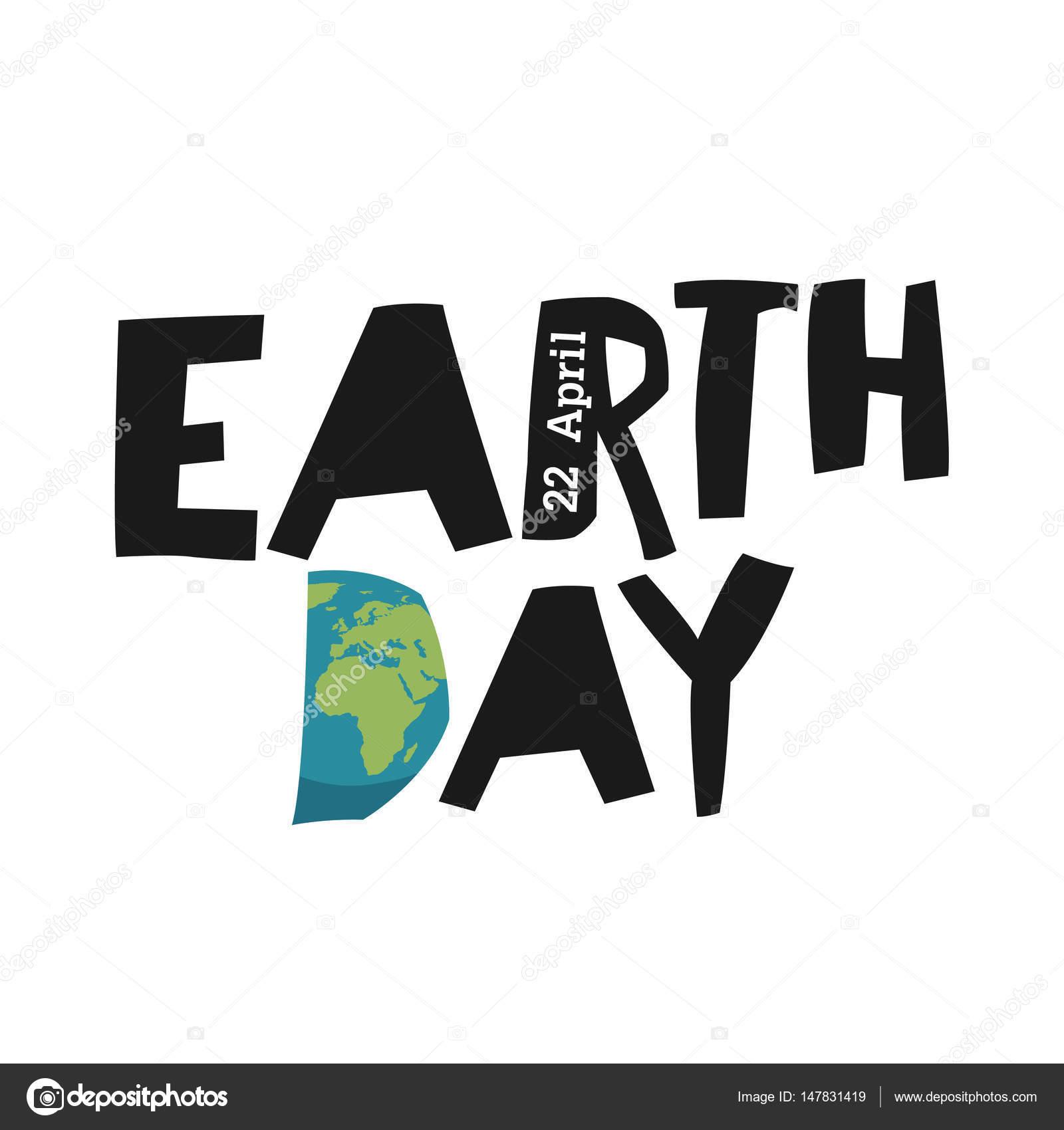Earth Day ökologie Logo Vorlage Stockvektor Pashabo 147831419