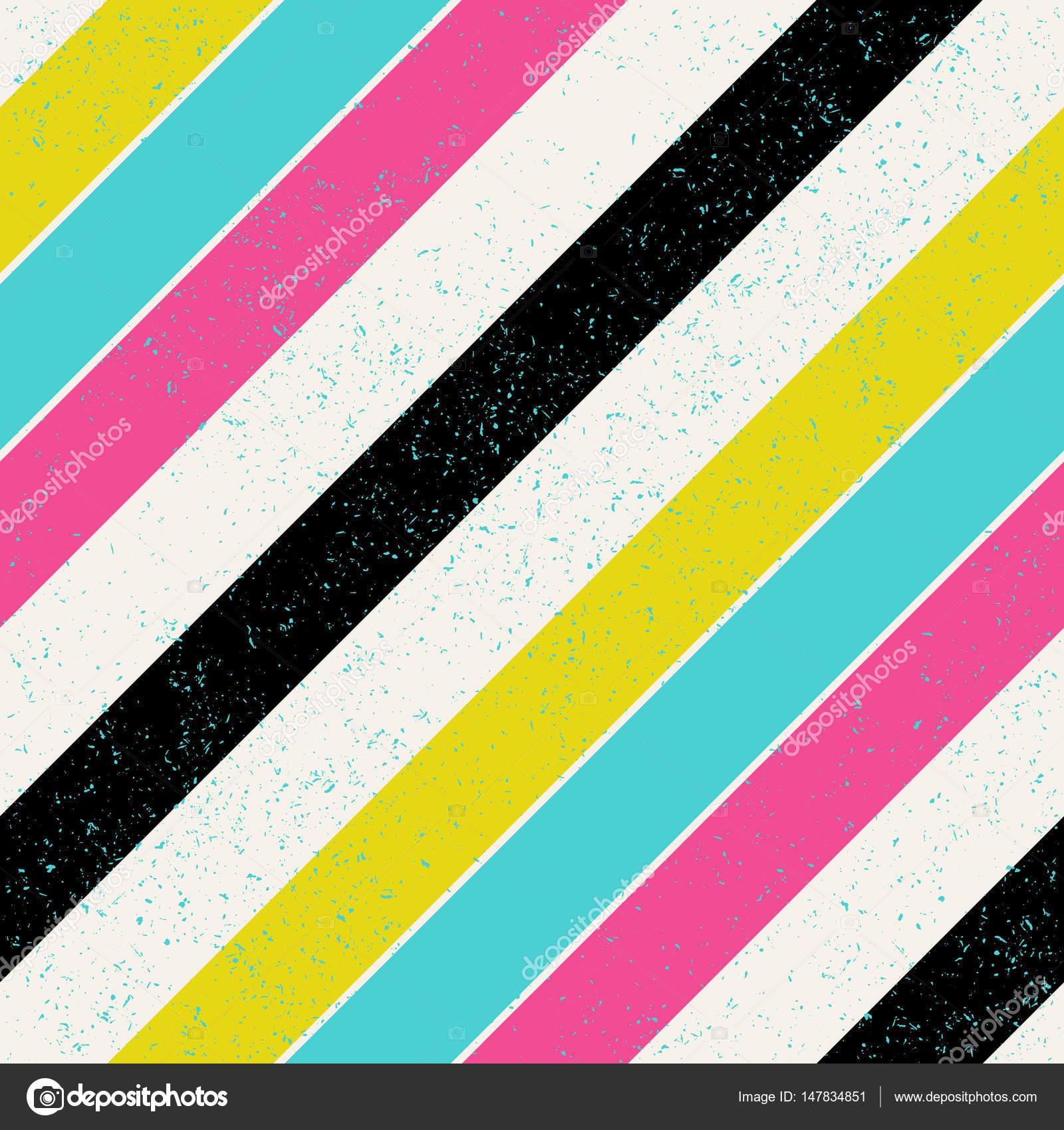 Diagonale Linien Retro Farben Stockvektor Pashabo 147834851