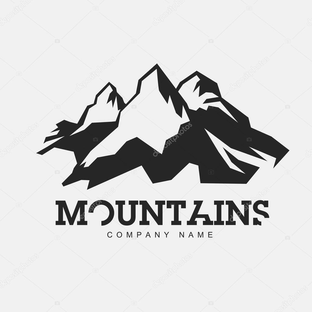 Mountain logo for adventure theme