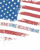 Fotografia citazione di tipografia sulla bandiera americana