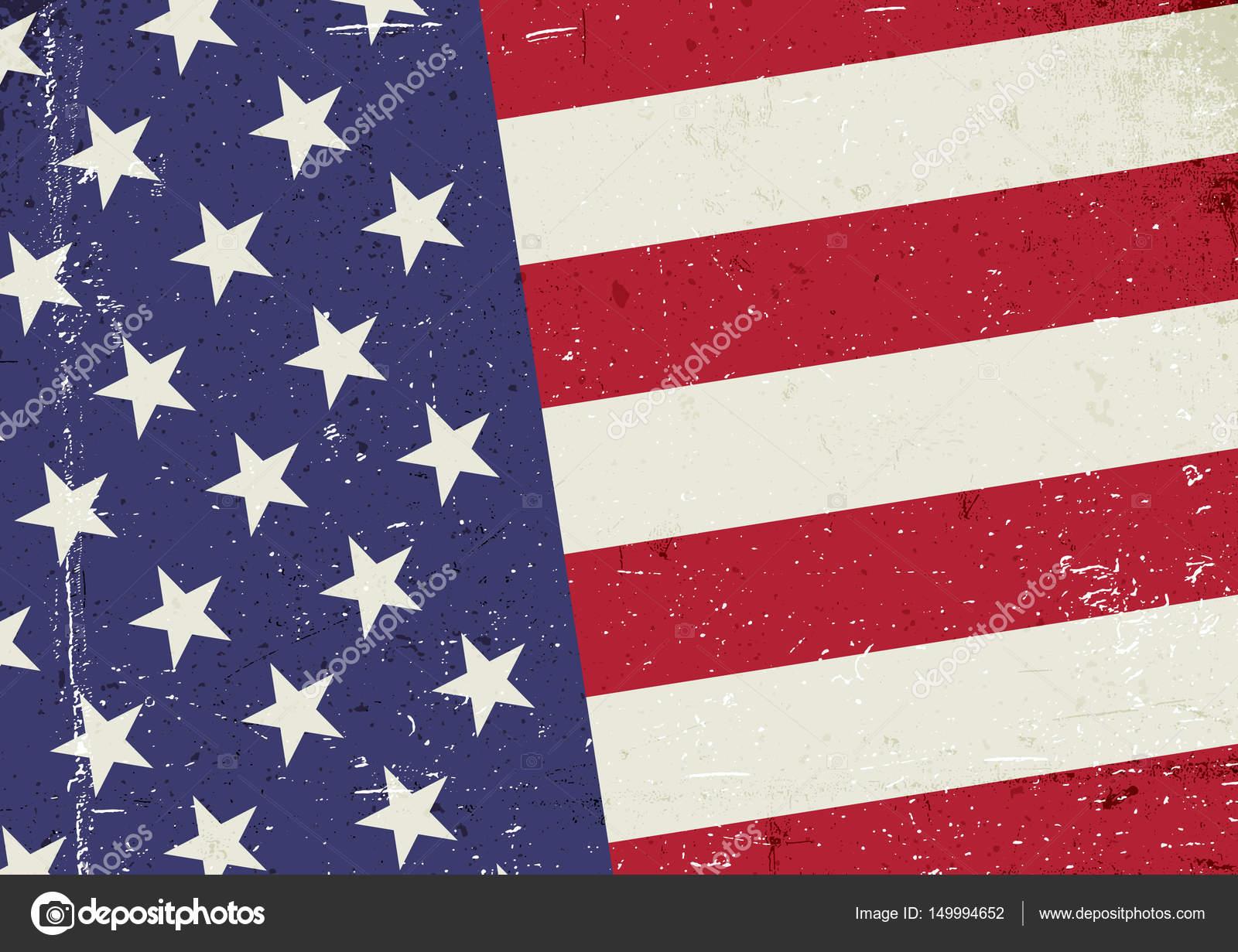 grunge flag vereinigte staaten von amerika stockvektor pashabo