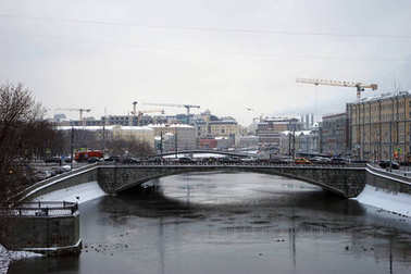Bridge and Moscow river