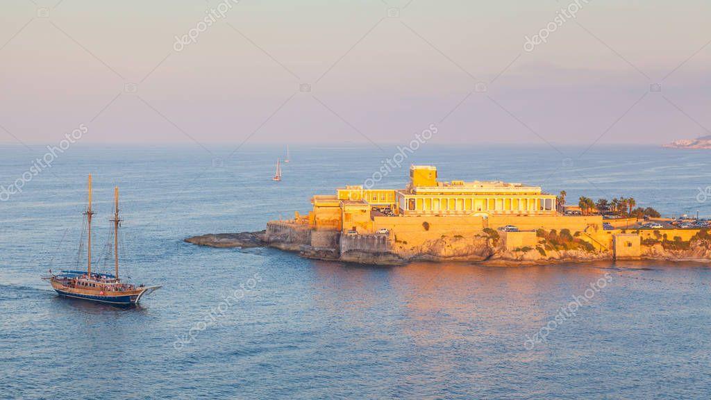 St George's Bay in Malta